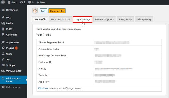 login-settings