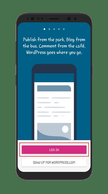 login-to-wordpress-application
